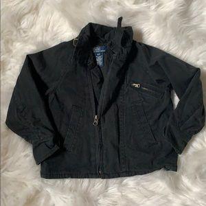 Like new Ralph Lauren faded black cotton jacket